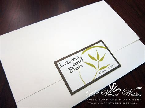 Wedding Invitations Asian Theme by Green Wedding Invitation A Vibrant Wedding