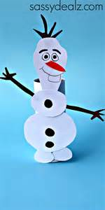 Frozen olaf toilet paper roll craft for kids crafty morning