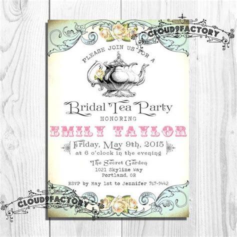 free printable victorian invitation printable victorian engagement tea party invitations