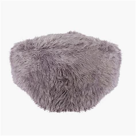 faux fur pouf ottoman amethyst faux fur pouf shop poufs and stools dear keaton