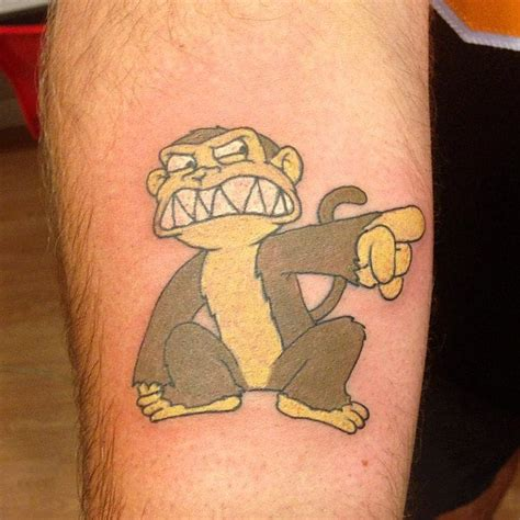 family guy tattoo evil monkey from family tattooed by tews yelp