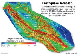 california earthquake prediction map what s the chance that the big one will hit o c in the