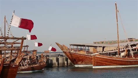 boat cruise qatar stock video of dhow cruise boat in doha city 22137202
