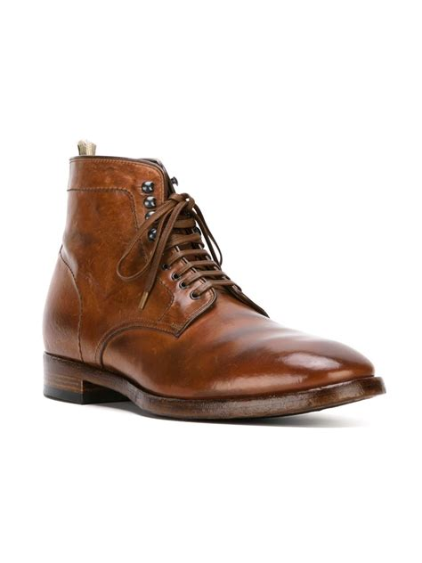 officine creative mens boots officine creative princeton boots in brown for lyst