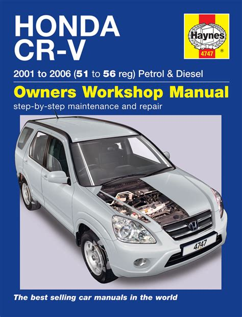 automotive maintenance light repair books haynes workshop car repair manual honda crv 97 on 4747