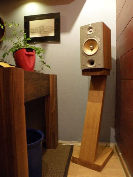 speaker stands by tag84 lumberjocks woodworking
