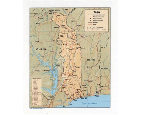political map of togo maps of togo detailed map of togo in tourist