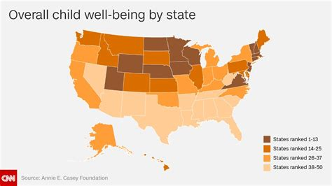 best state for the best and worst states to raise children in cnn