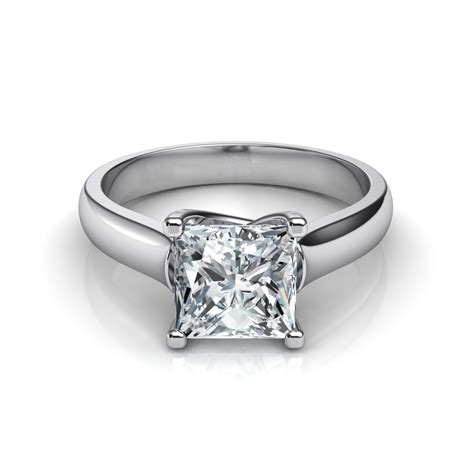 cross prong cut solitaire engagement ring