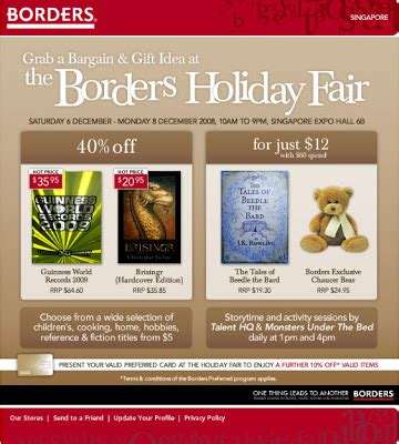 Borders Books Gift Card - borders marketplace gift card