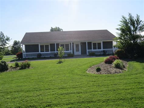 lovely house plans with front porches 13 ranch style beautiful ranch home on 10 acres attached 2 car garage