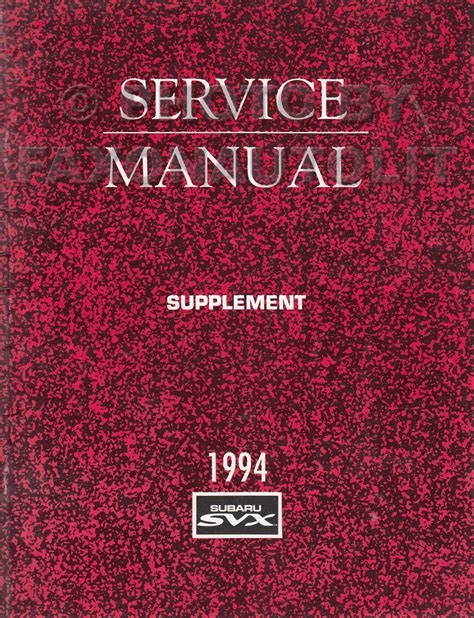 1994 subaru legacy repair shop manual supplement original 1994 subaru svx repair shop manual supplement original axles brake master cyl le wiring