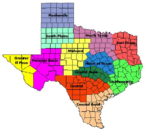 map of texas school districts mytpta district map texas physical therapy association