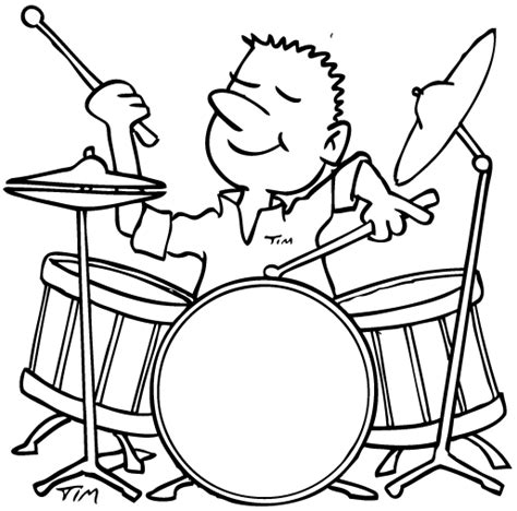 coloring pages drummer boy drum set drawing clipart panda free clipart images