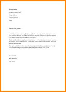 Resignation Letter Wording by Resignation Letter Format 2016 Design Exles Of Resignation Letter White Template Wording