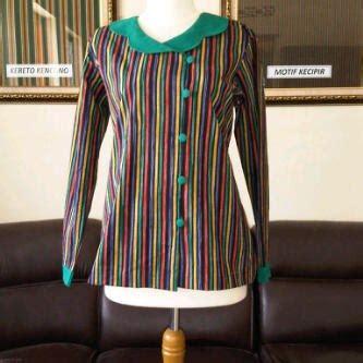 design baju batik lurik 20 model baju batik lurik wanita kantoran modern terbaru