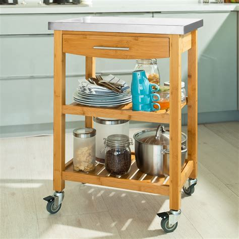 Kitchen Cart With Drawers by Sobuy 174 Kitchen Trolley With Shelves Drawers Kitchen