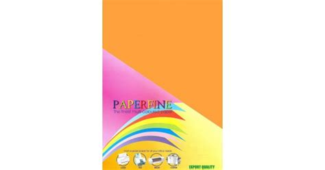 Kertas Hvs Warna Paperfine Gold paperfine kertas hvs warna a3 cyber orange 500