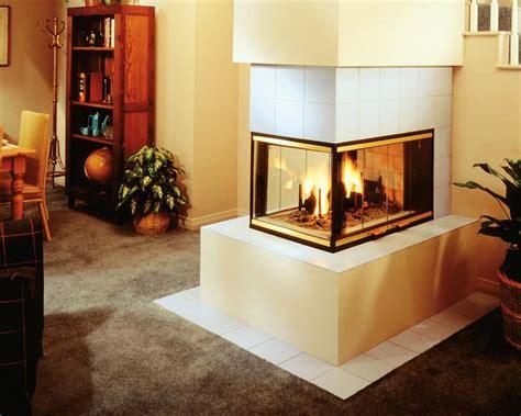 three sided wood burning fireplace fireplace design ideas