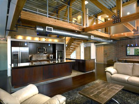 Open Floor Plans With Loft hamilton loft industriel cuisine d 233 troit par roger