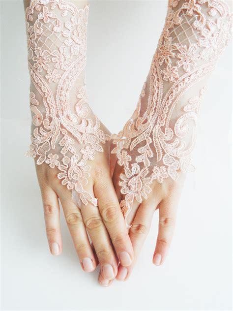 gloves soft peach wedding gloves bridal gloves