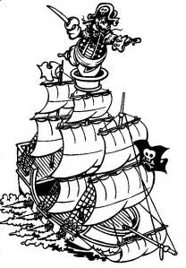 coloring books pirate ship print free download