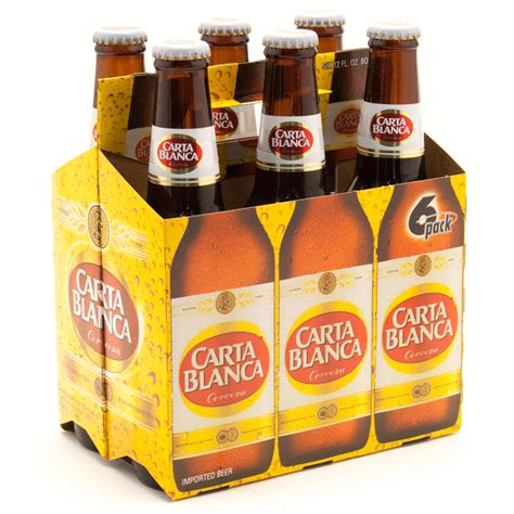 carta blanca carta blanca cerveza 6 pack beer wine and liquor delivered to your door or business 1 hour