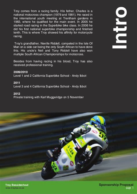 Sponsorship Letter Motorcycle Racing Troy Bezuidenhout Sponsorship Opportunity 2014 03 04