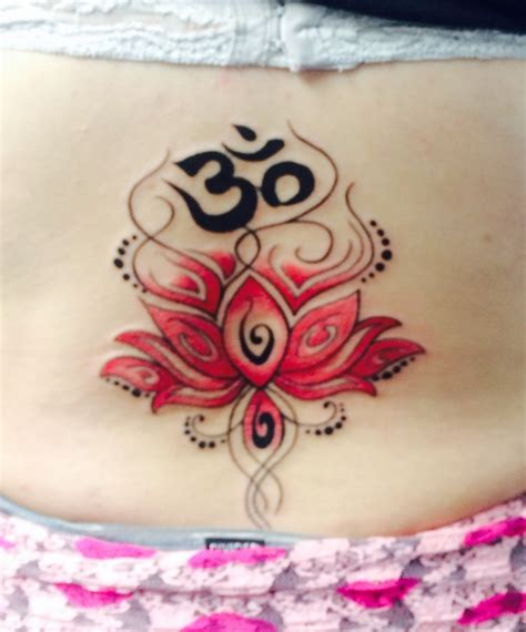 lotus em tattoo pink lotus flower lower back tattoo ohm at the top