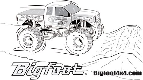 Bigfoot Truck Coloring Pages bigfoot truck coloring pages page king krucnh