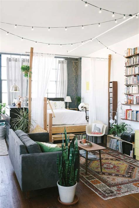 how to create a bedroom inside a tiny studio apartment