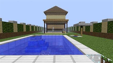 2 story house with pool two story house with pool minecraft project