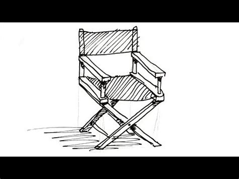 stuhl 3d zeichnen how to draw a director s chair real easy