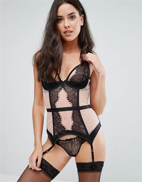 If Casandra 4 In 1 lyst bluebella basque in black