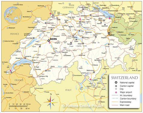 map of switzerland cities switzerland map alps