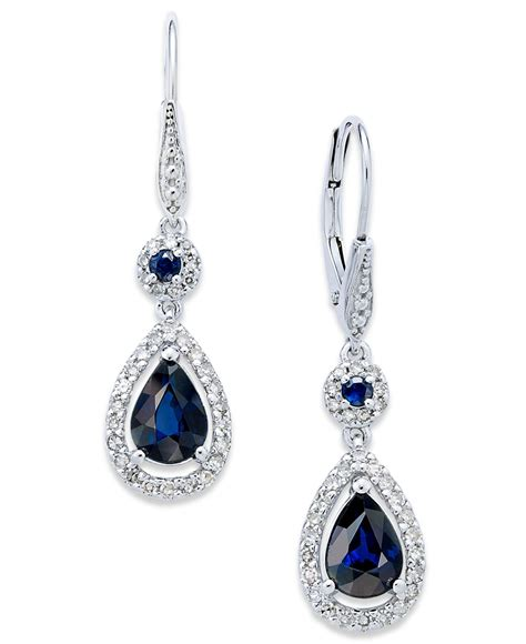 Blue Sapphire 12 3 Ct macy s sapphire 1 3 4 ct t w and 1 3 ct t w