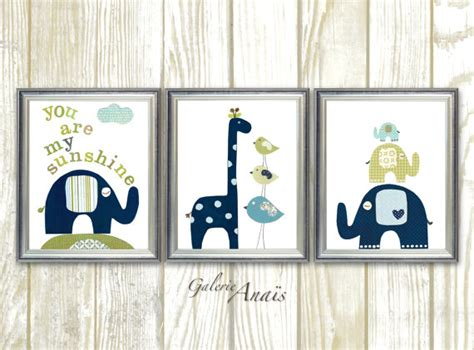 Navy And Green Nursery Decor Baby Boy Nursery Decor Room Decor Navy Blue Green Nursery