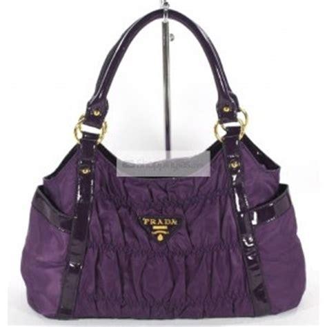 Prada Selempang Parasut 1 tas tas prada kulit sintetis pinggiran tali kain parasut warna purple lh3628