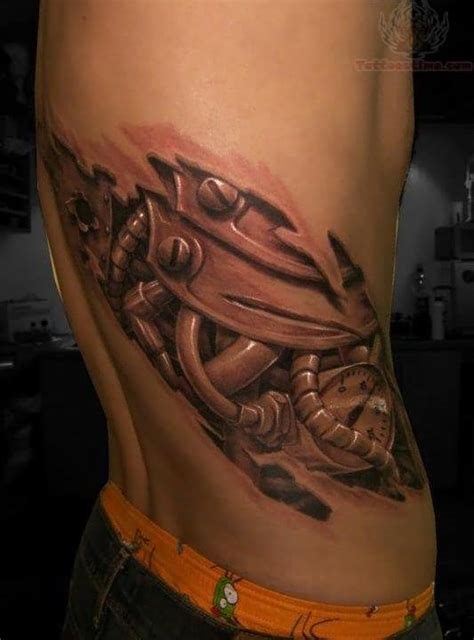side tattoo designs for guys side rib biomechanical for