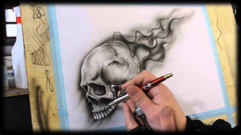 Airbrush Air Brush airbrush anleitung f 252 r anf 228 nger how to airbrush for beginners skull videotutorial