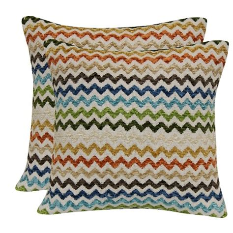 Multi Colored Pillows by Multi Colored Chevron Throw Pillow With Canvas Back Target