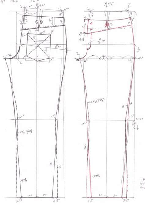 pattern drafting for trousers drafting jeans pattern 469b0eaf580ca filename 청바지패턴2 gif