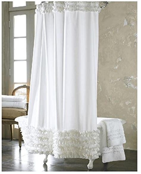do shower curtains come in different lengths eforgift 72 inch by 72 inch solid white ruffles shower