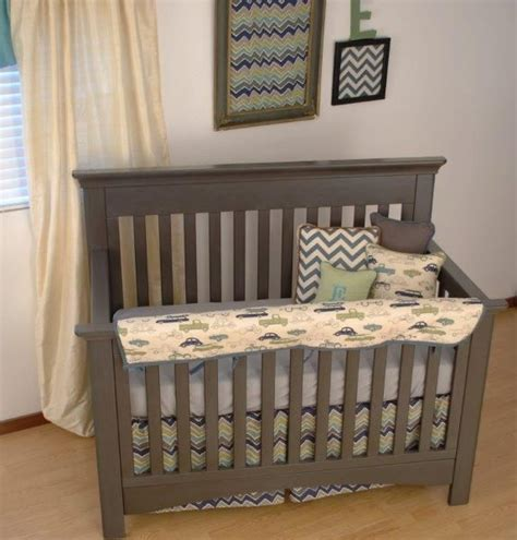 vintage crib bedding vintage car and chevron fabric crib bedding zig zag chevrons in the nursery