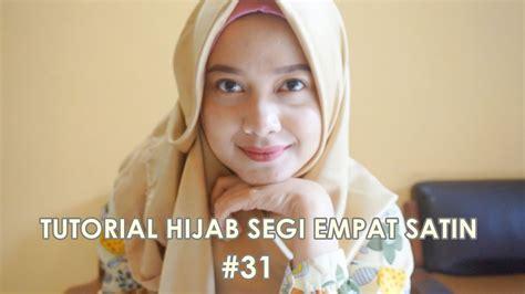 tutorial segi empat velvet tutorial hijab segi empat satin 31 indahalzami youtube