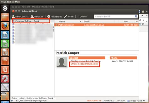 Personal Address Finder Find A Contact In Thunderbird
