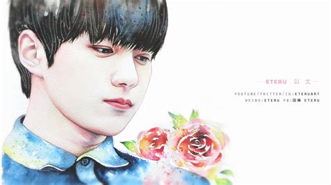 watercolor edit tutorial tumblr blossom infinite l 엘 myungsoo 명수 watercolor portrait