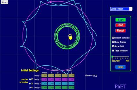 best solar system simulator my solar system motion acceleration velocity phet