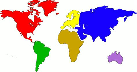 image of world map with continents pin rex coloring puzzle 2 on