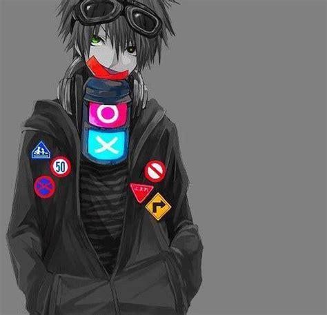 Black Gamer black and white gamer anime boy psp system colorful yet